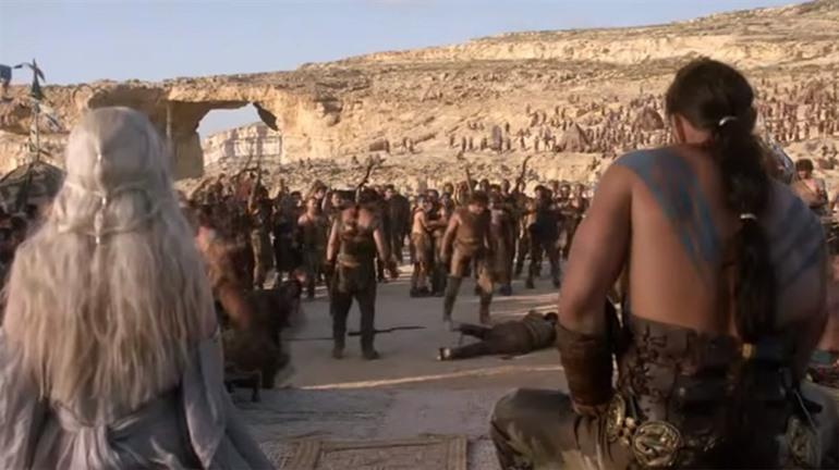 Huwelijk Daenerys Khal Drogo game of thrones azure window malta