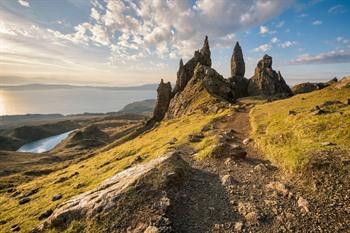 Isle of Skye, Schotland. The Old Man of Storr