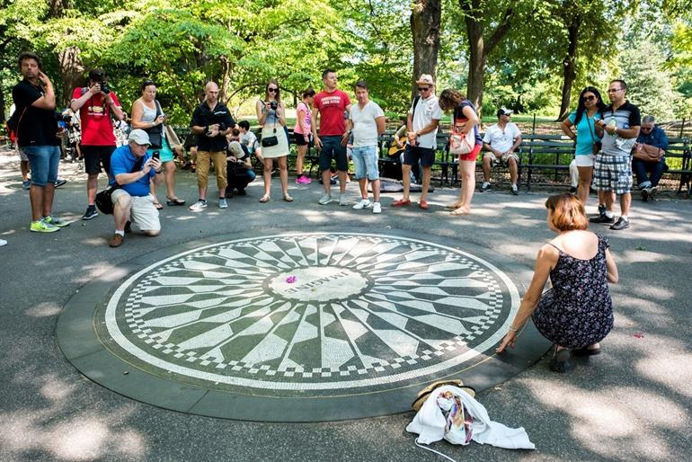 Strawberry Fields monument