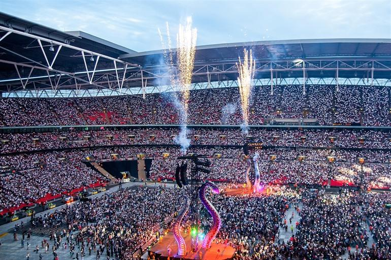 Taylor Swift optreden in Wembley