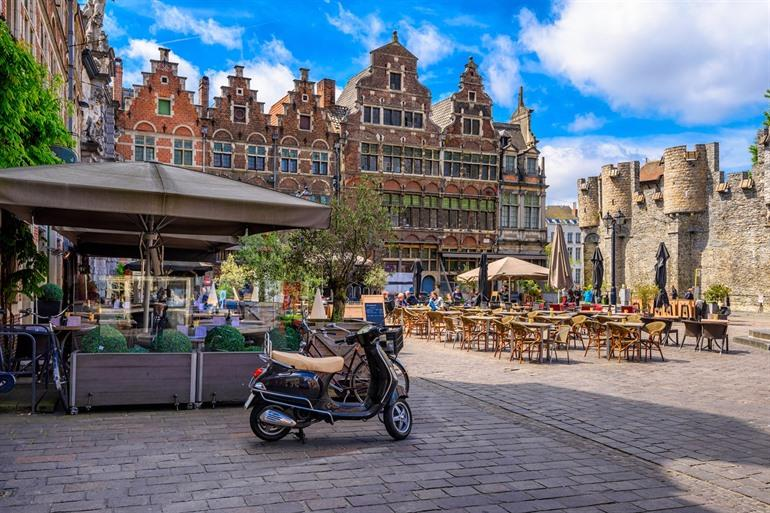 Terras in centrum Gent