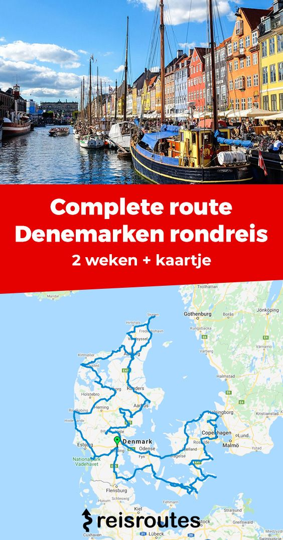 Pinterest Rondreis Denemarken van 14 dagen: reisschema + tips en route door Denemarken