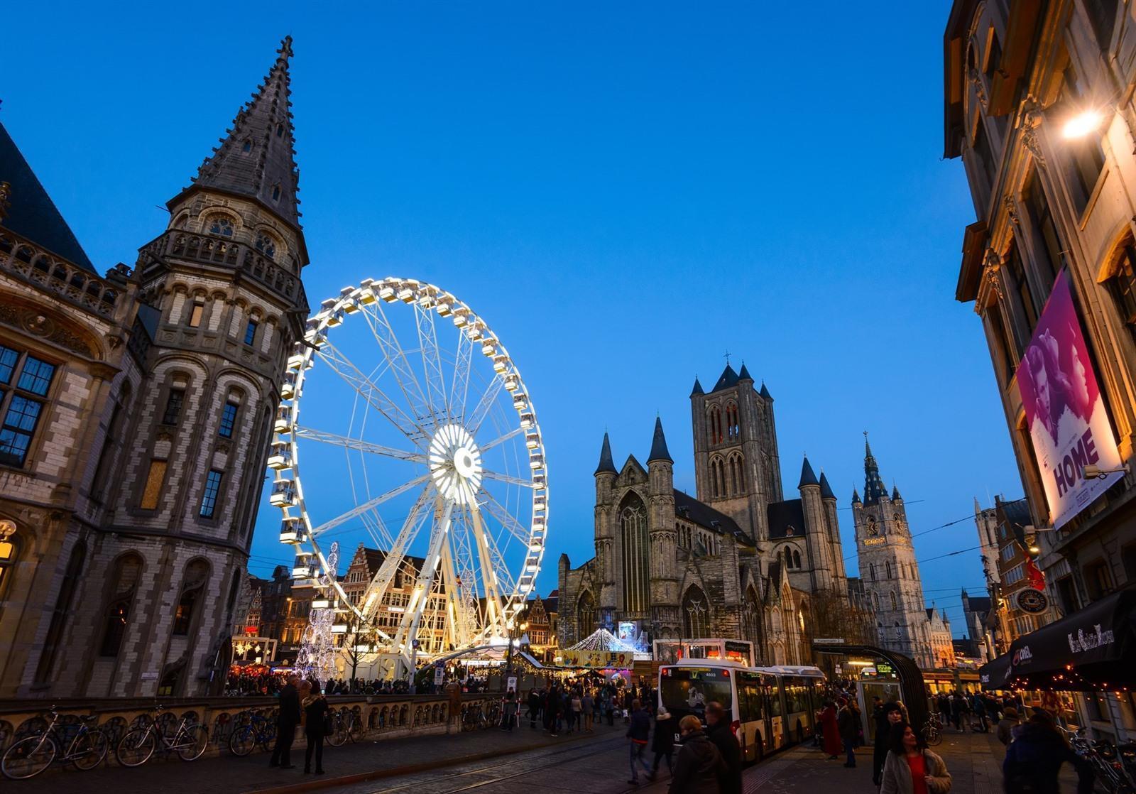 Kerstmarkt Gent 2019 Bezoeken Wandeling Gentse Winterfeesten