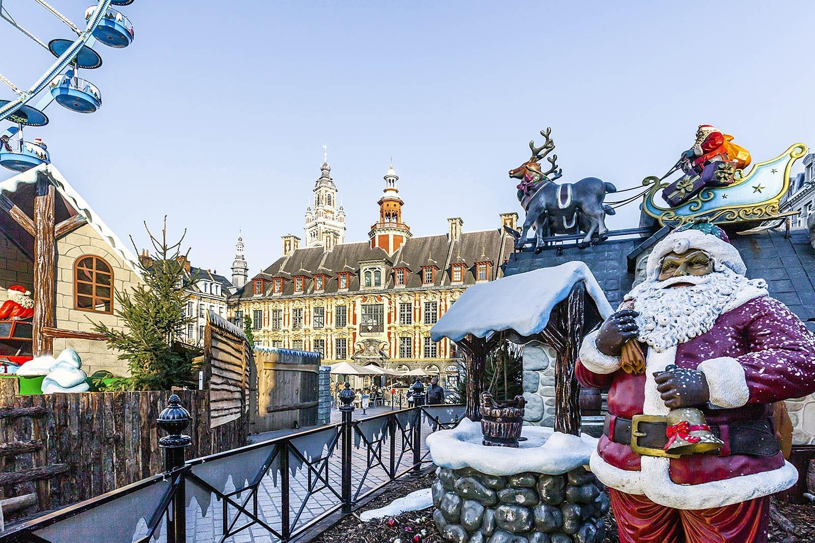 Kerstmarkt Rijsel 2019 Bezoeken Uitgestippelde Wandeling Lille